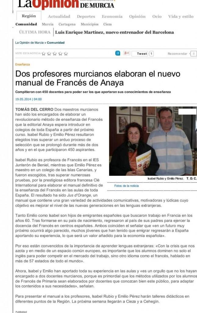 Dos profesores murcianos... - La Opinión de Murcia